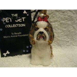 NEW Shih Tzu Dog Glass Christmas Ornament